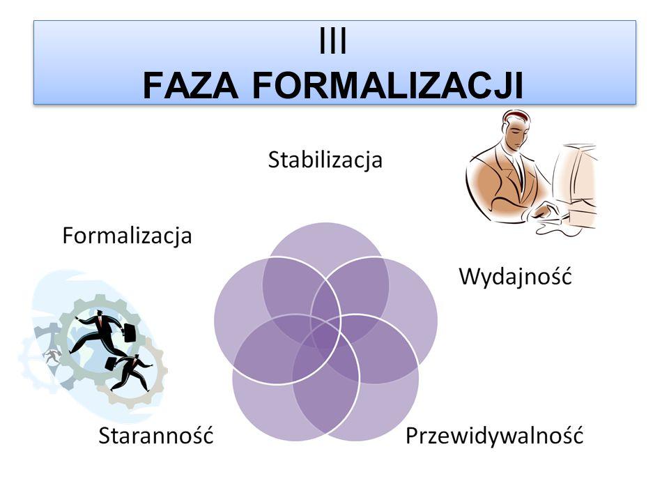 III FAZA FORMALIZACJI