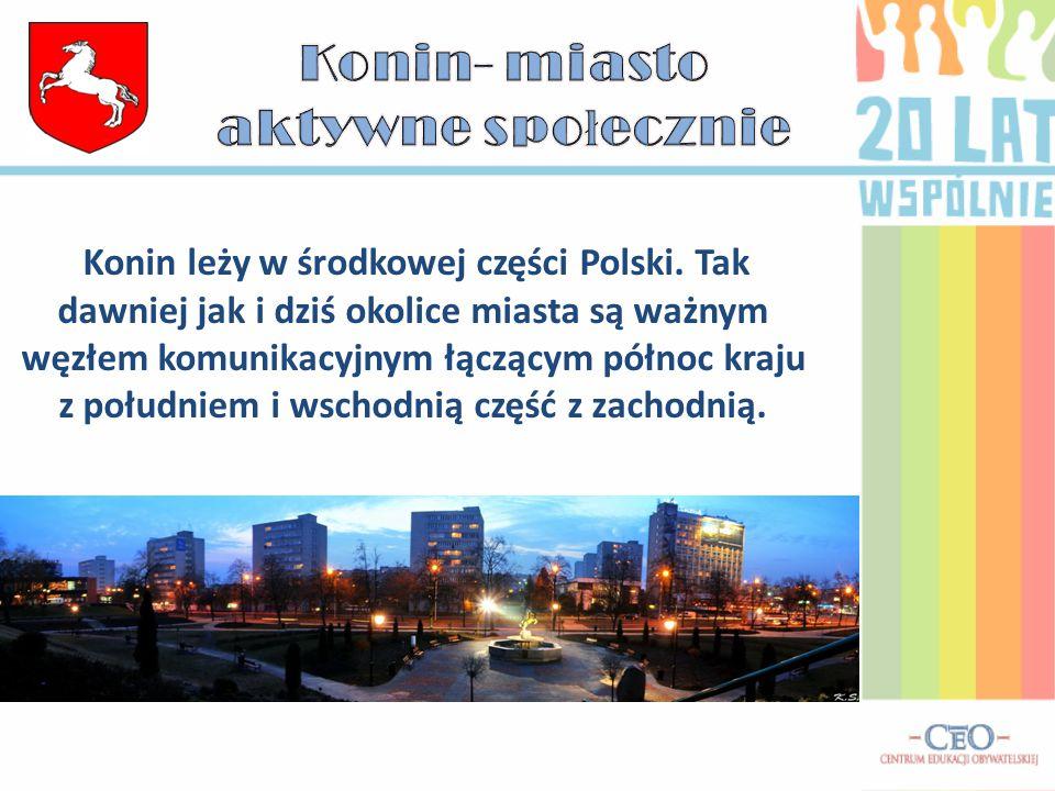 Konin leży w środkowej części Polski.