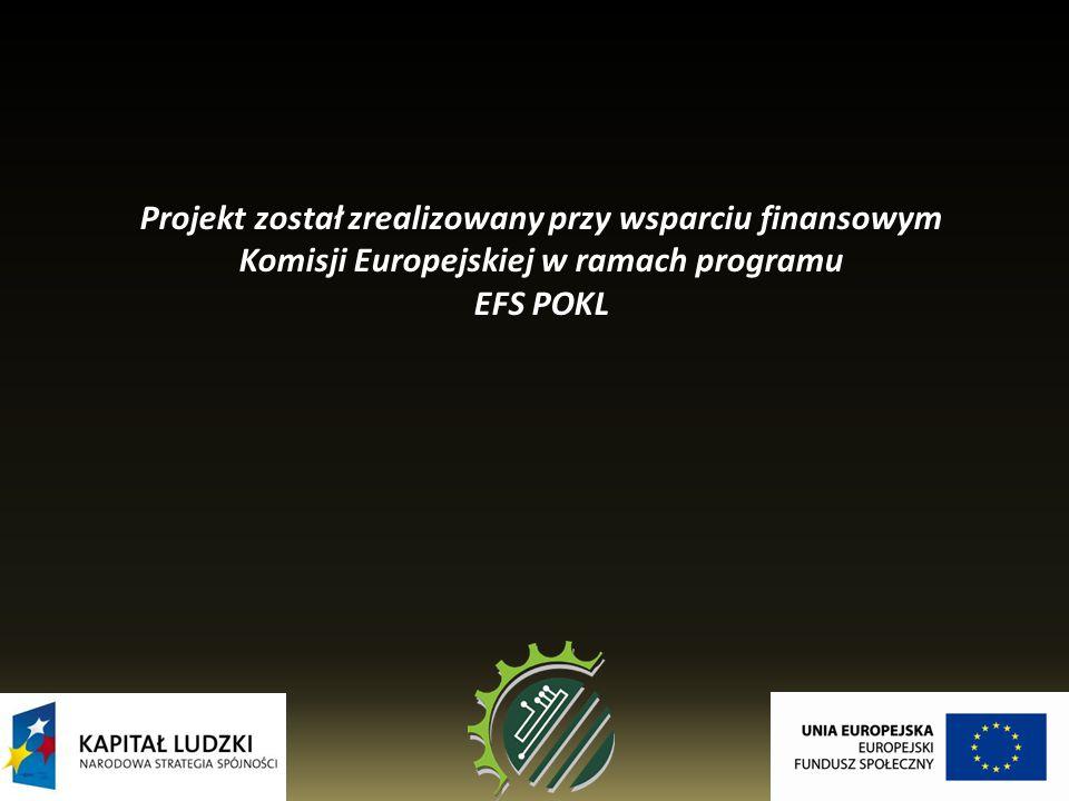 Projekt został zrealizowany przy wsparciu finansowym Komisji Europejskiej w ramach programu EFS POKL