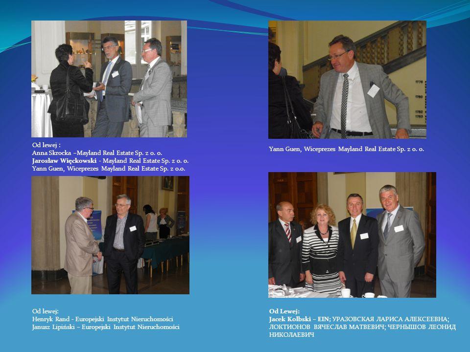 Od lewej : Anna Skrocka –Mayland Real Estate Sp. z o. o. Jarosław Więckowski - Mayland Real Estate Sp. z o. o. Yann Guen, Wiceprezes Mayland Real Esta