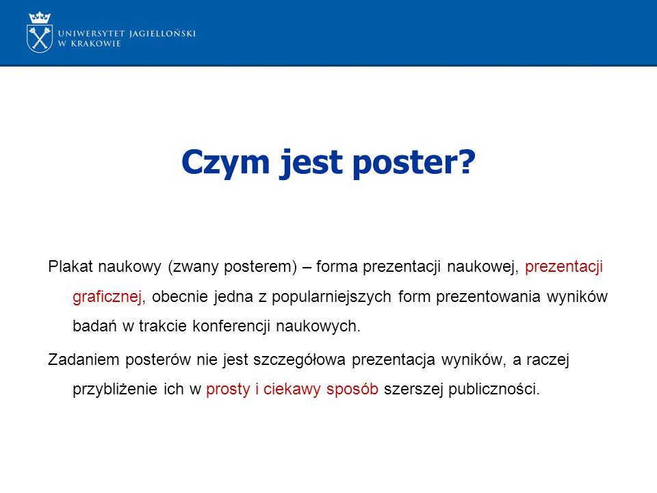 Plakat naukowy (zwany posterem) – forma prezentacji naukowej, prezentacji graficznej, obecnie jedna z popularniejszych form prezentowania wyników bada