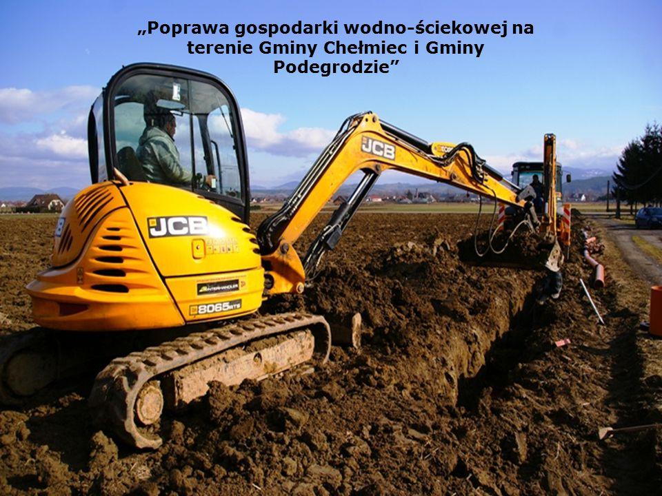 """""""Poprawa gospodarki wodno-ściekowej na terenie Gminy Chełmiec i Gminy Podegrodzie"""""""