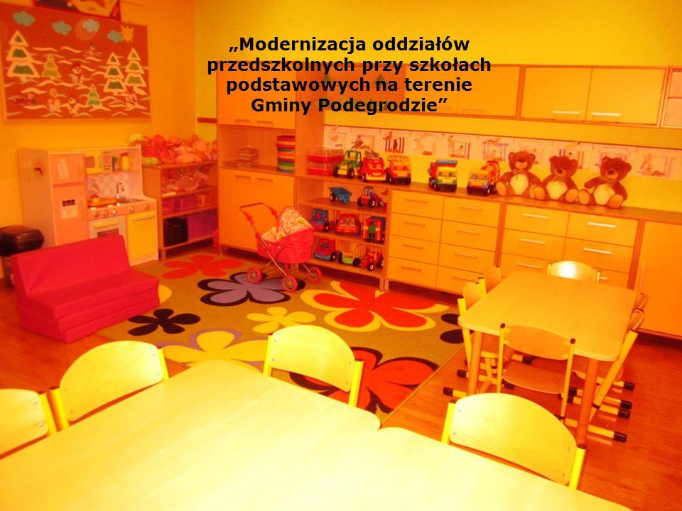"""""""Modernizacja oddziałów przedszkolnych przy szkołach podstawowych na terenie Gminy Podegrodzie"""""""