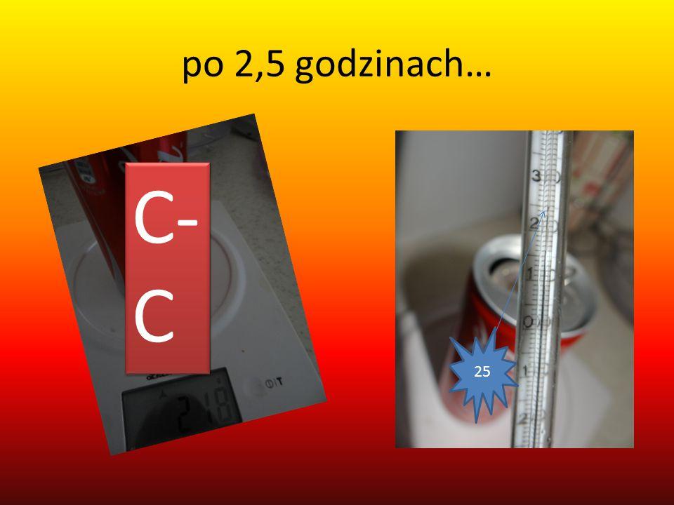 po 2,5 godzinach… C- C 25