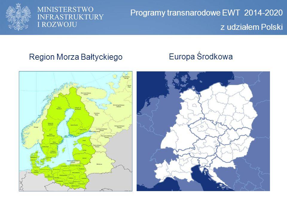 Programy transnarodowe EWT 2014-2020 z udziałem Polski Region Morza Bałtyckiego Europa Środkowa