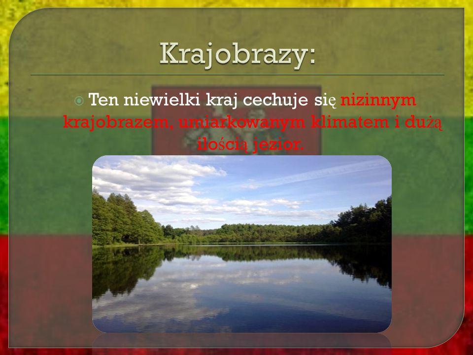  Ten niewielki kraj cechuje si ę nizinnym krajobrazem, umiarkowanym klimatem i du żą ilo ś ci ą jezior.