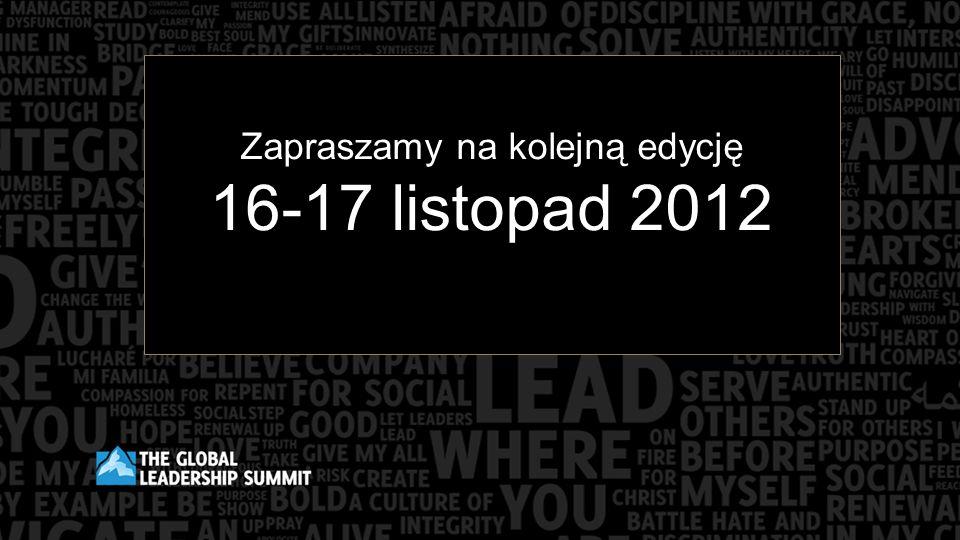 Zapraszamy na kolejną edycję 16-17 listopad 2012