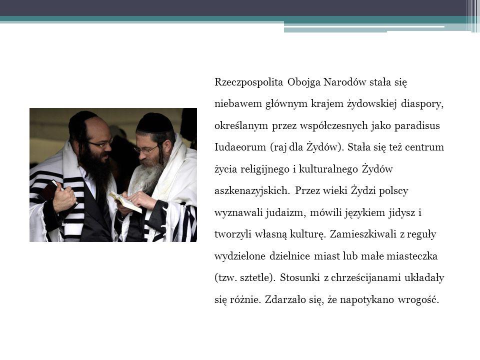 Żydzi na terenach polskich Pierwsze informacje o Żydach na ziemiach polskich pochodzą z XI/XII w., dotyczą Żydów przybyłych z Niemiec, Czech oraz Rusi