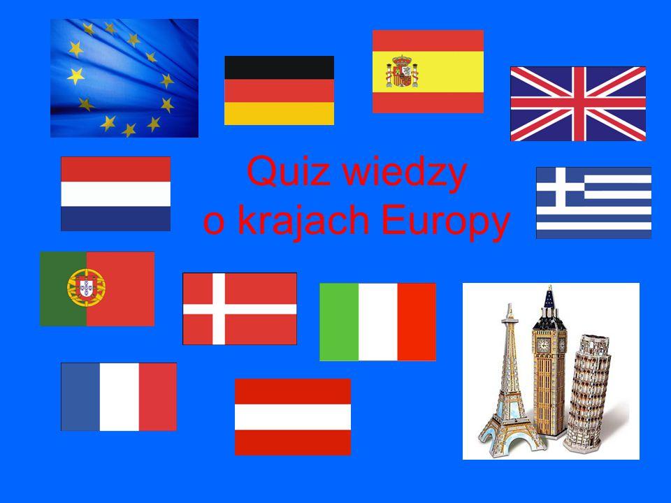 Quiz wiedzy o krajach Europy