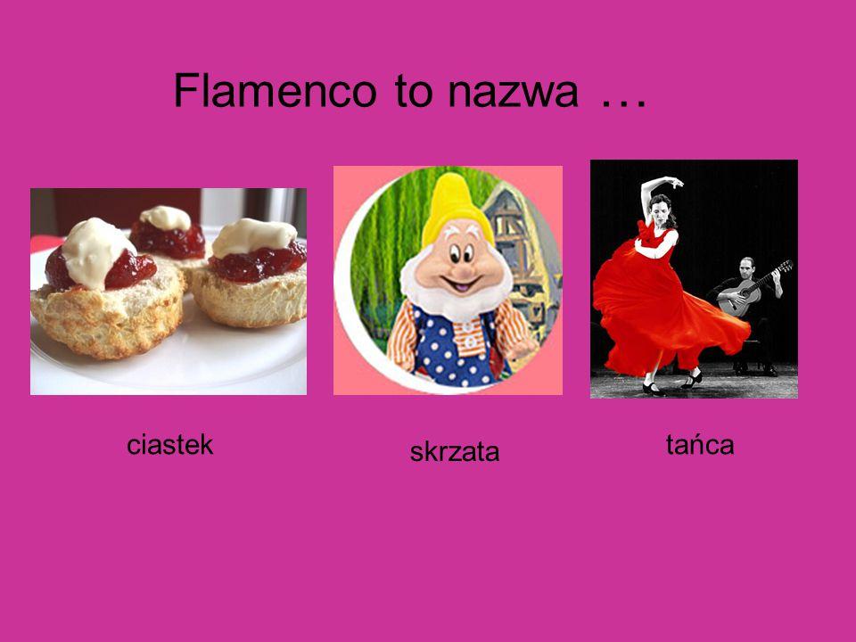 Flamenco to nazwa … ciastek skrzata tańca