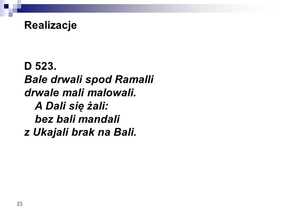 23 Realizacje D 523. Bale drwali spod Ramalli drwale mali malowali.
