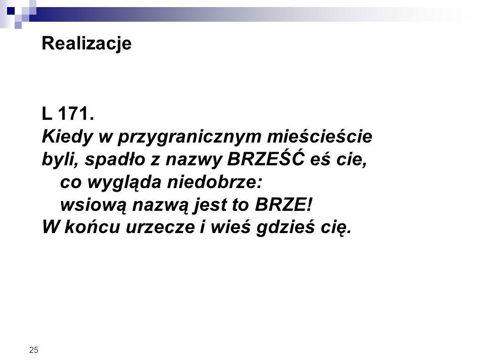25 Realizacje L 171.