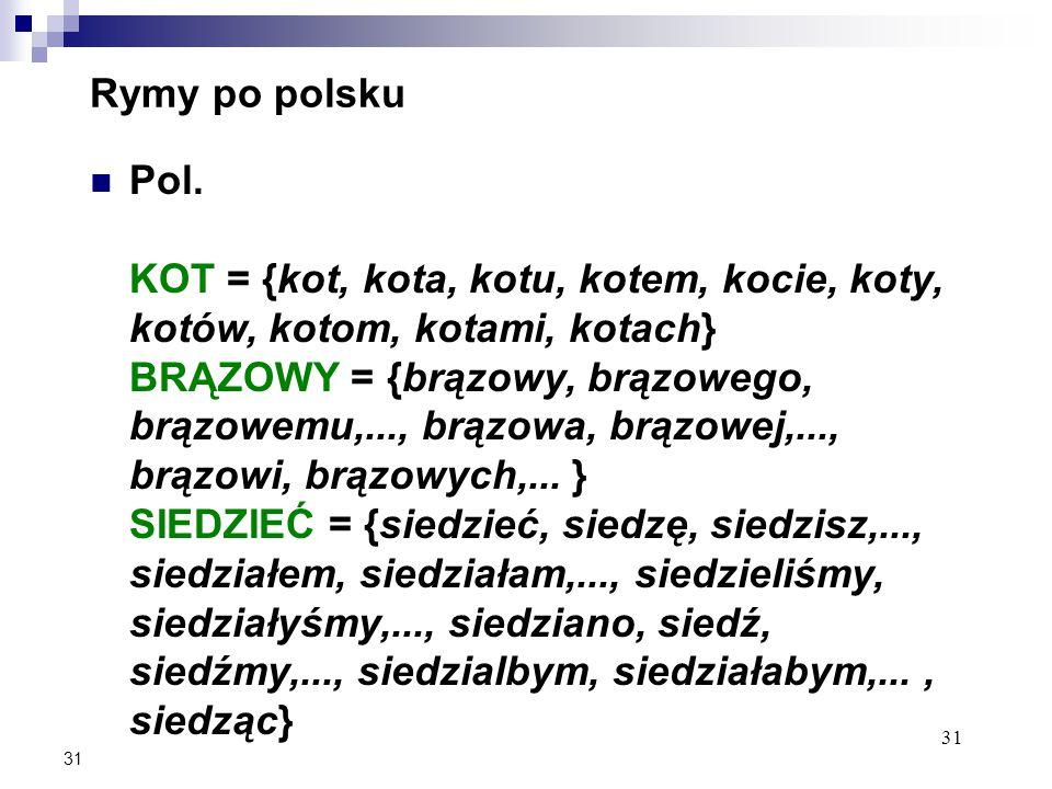 31 Rymy po polsku Pol.