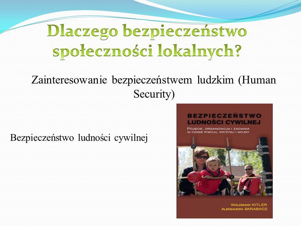 Zainteresowanie bezpieczeństwem ludzkim (Human Security) Bezpieczeństwo ludności cywilnej