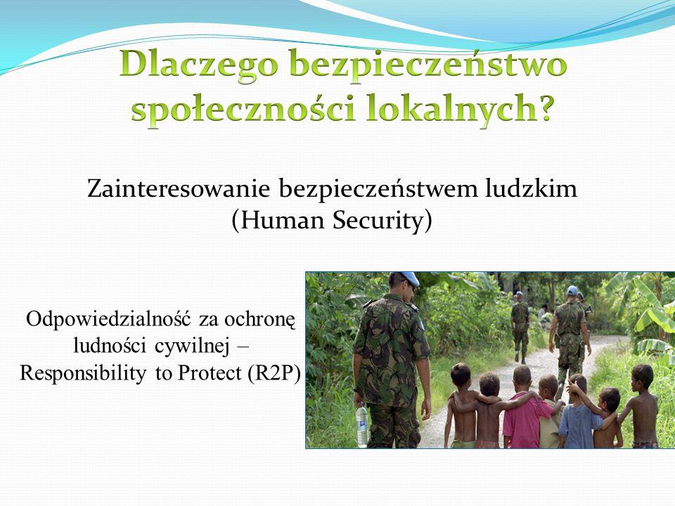 Zainteresowanie bezpieczeństwem ludzkim (Human Security) Odpowiedzialność za ochronę ludności cywilnej – Responsibility to Protect (R2P)