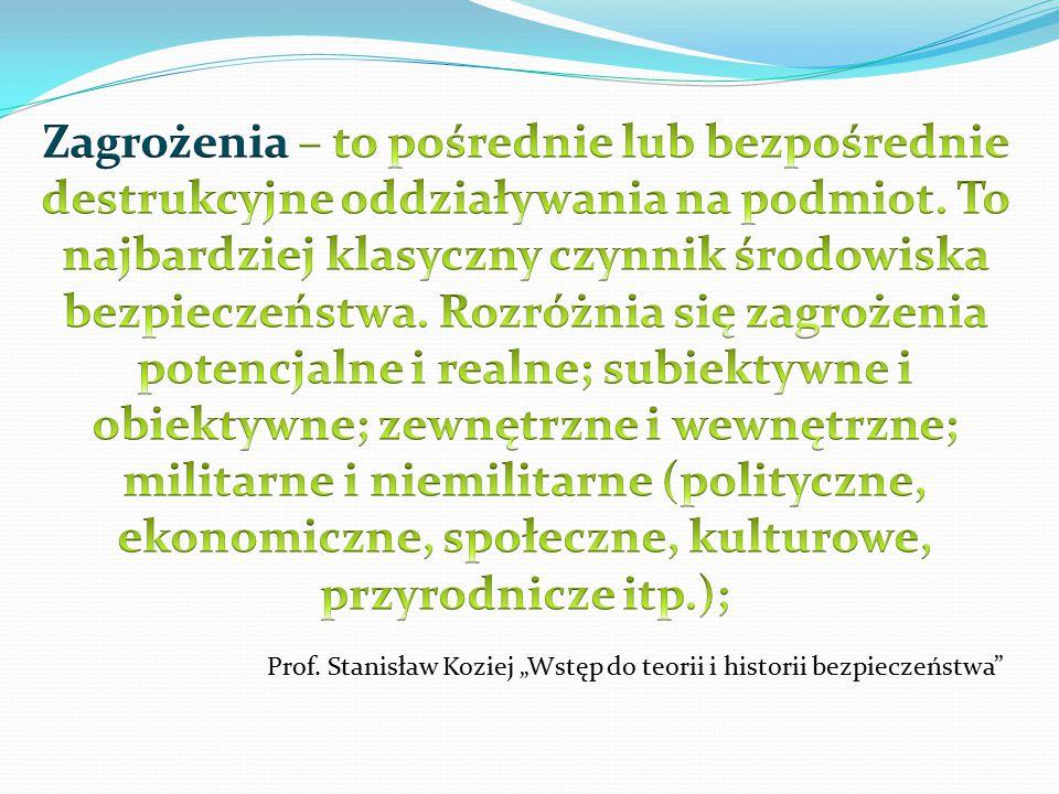 """Prof. Stanisław Koziej """"Wstęp do teorii i historii bezpieczeństwa"""""""