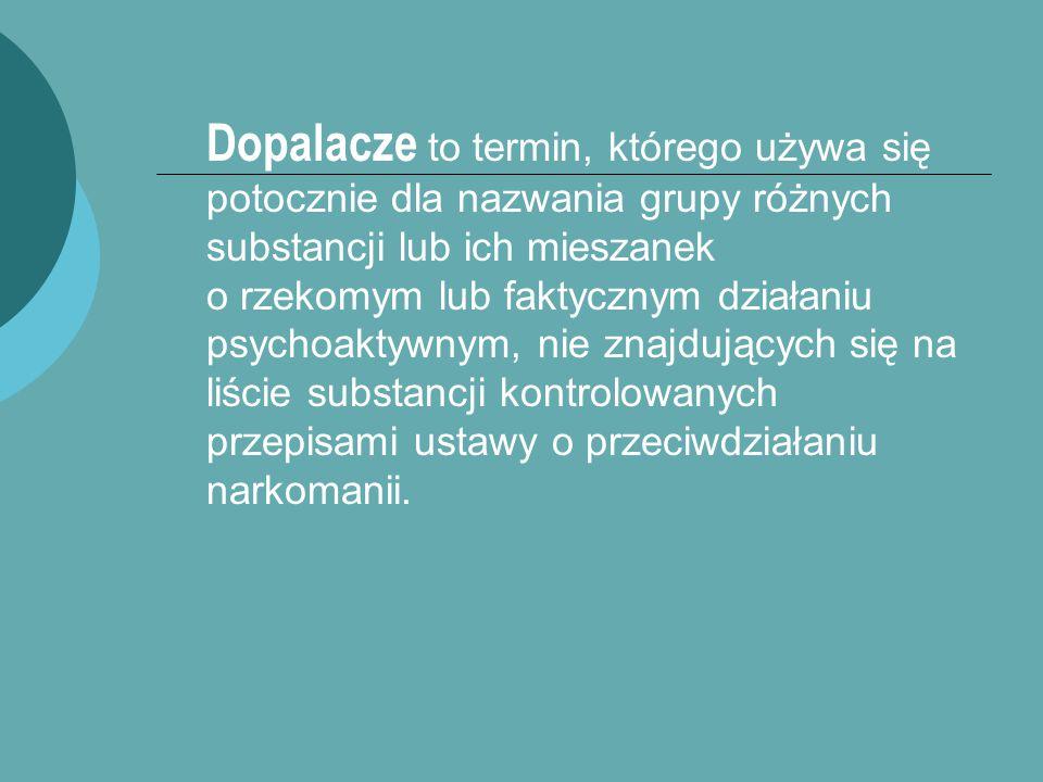  DOPALACZ - ALTERNATYWA dla narkotyków.