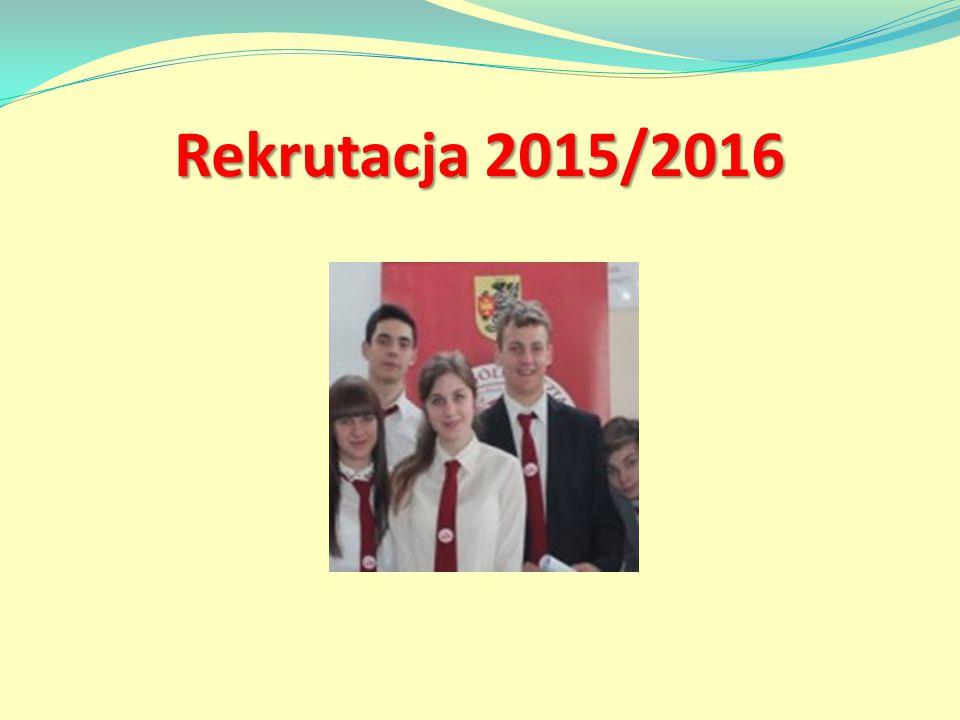 Rekrutacja 2015/2016