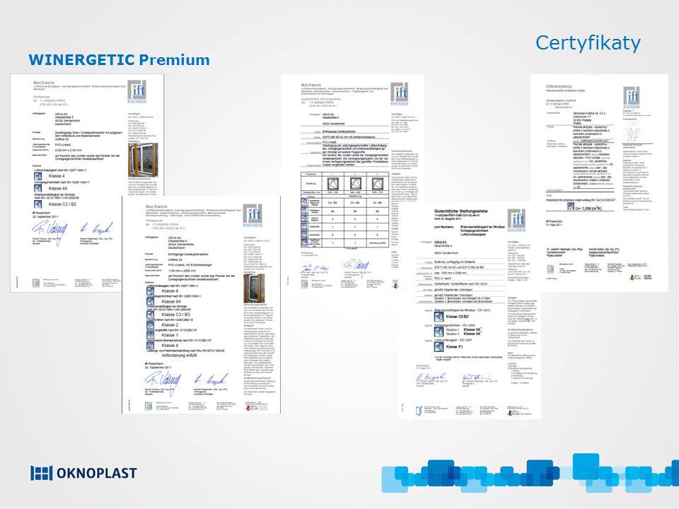 Certyfikaty WINERGETIC Premium