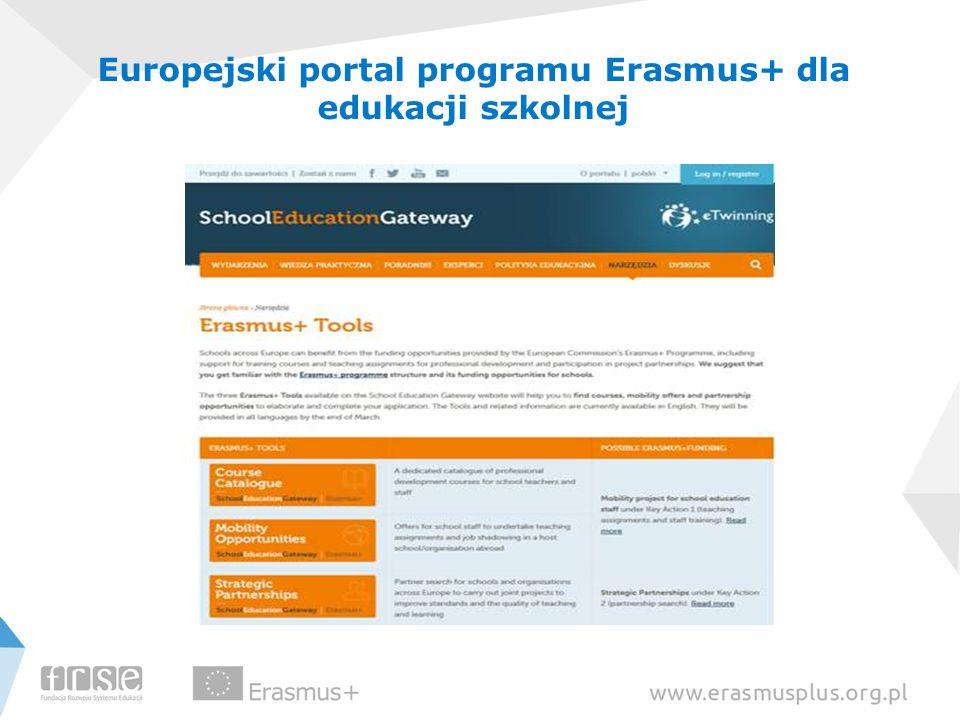 Europejski portal programu Erasmus+ dla edukacji szkolnej