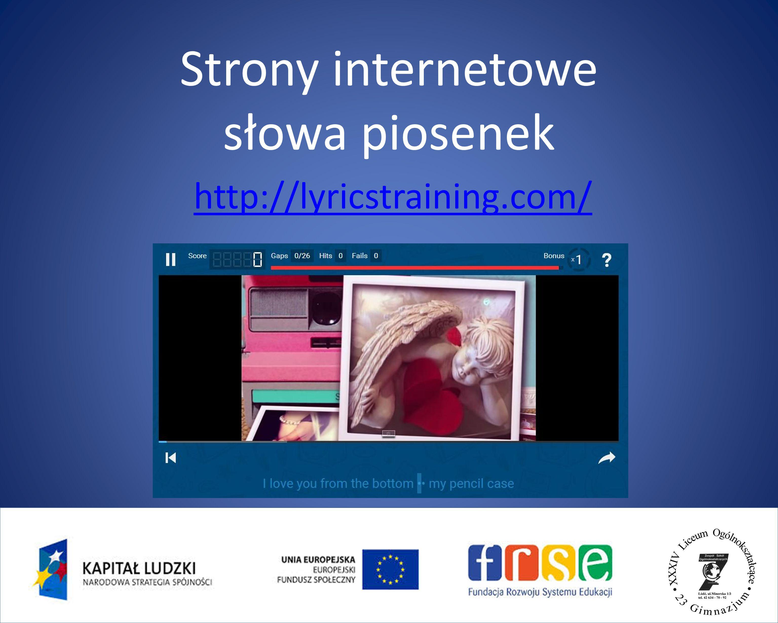 Strony internetowe - filmy https://www.youtube.com/watch?v=gNaDvAYC0Jw https://www.youtube.com/watch?v=R9rymEWJX38 https://www.youtube.com/watch?v=w0hDORaUBMs