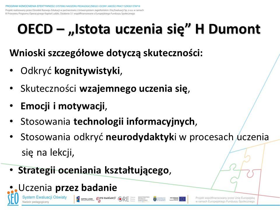 """OECD – """"Istota uczenia się H."""