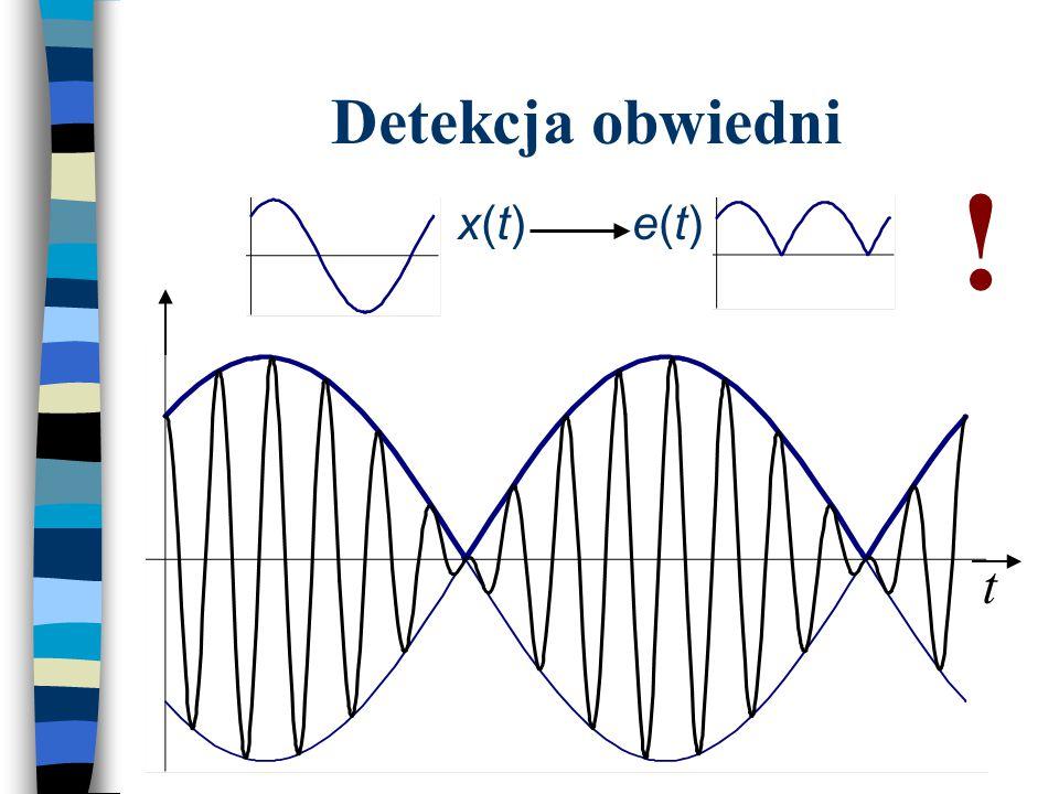 Detekcja obwiedni x(t)x(t)e(t)e(t) ! t