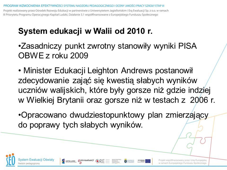 Dwudziestopunktowy plan w dziedzinie edukacji – kluczowe cechy Po wprowadzeniu nowych ram i krajowego programu wsparcia stworzono standardy w zakresie umiejętności czytania i pisania oraz liczenia – testy dla uczniów w wieku 7-14 lat, uwzględniające: likwidację różnic w wynikach nauczania wynikających z ubóstwa (Pupil Deprivation), w oparciu o odsetek uczniów otrzymujących darmowe posiłki w szkole zawodowe standardy nauczania i standardy w zakresie przywództwa