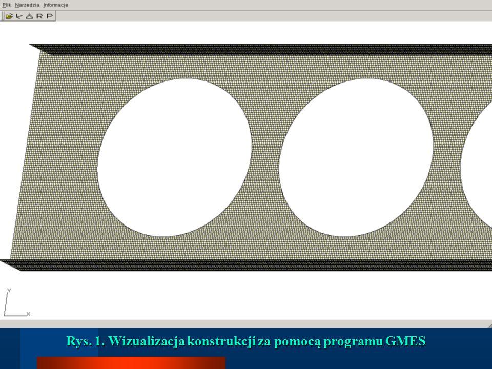 Rys. 1. Wizualizacja konstrukcji za pomocą programu GMES
