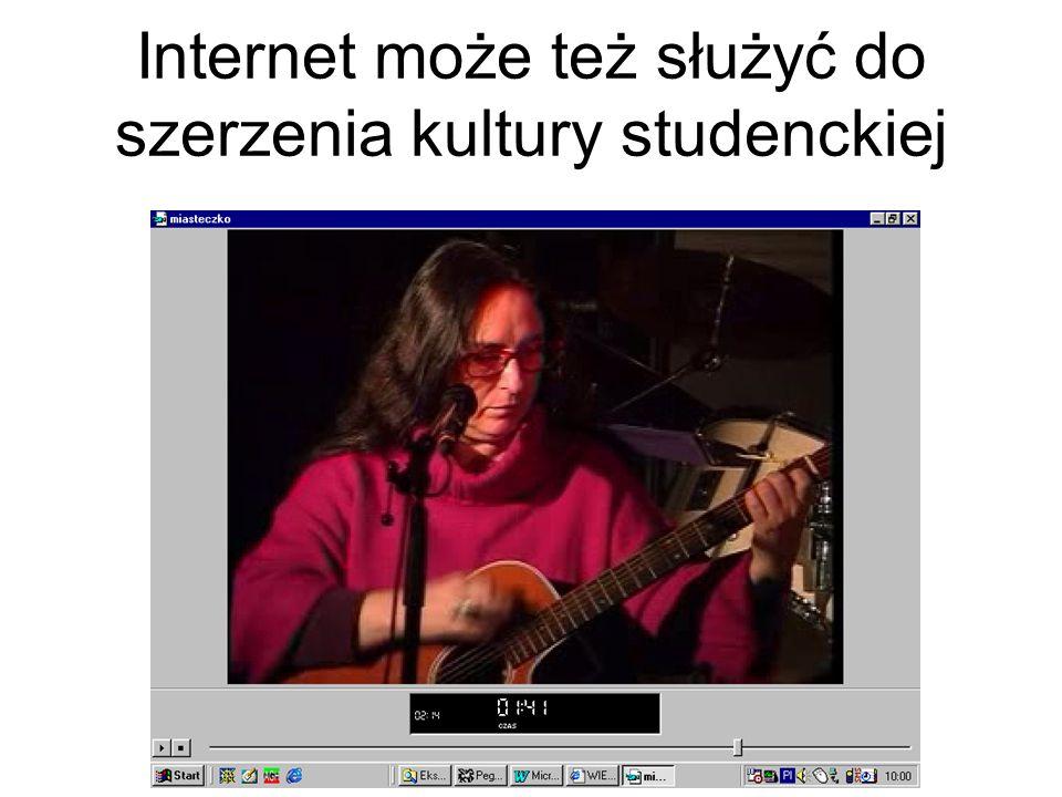 Internet jest też ważnym narzędziem komunikacji w obrębie społeczności akademickiej (radio RAK)