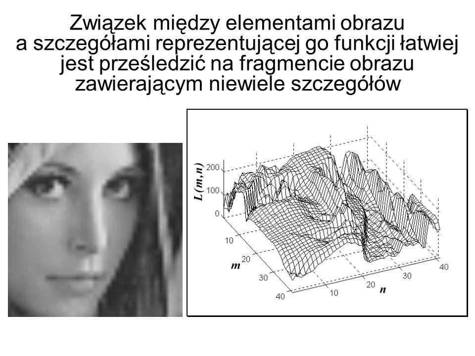 Obraz cyfrowy jest rozpatrywany jako funkcja dwóch zmiennych