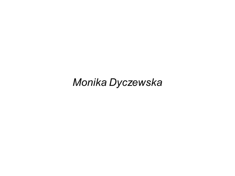 Monika Dyczewska