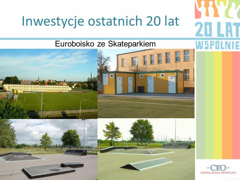 Inwestycje ostatnich 20 lat Euroboisko ze Skateparkiem