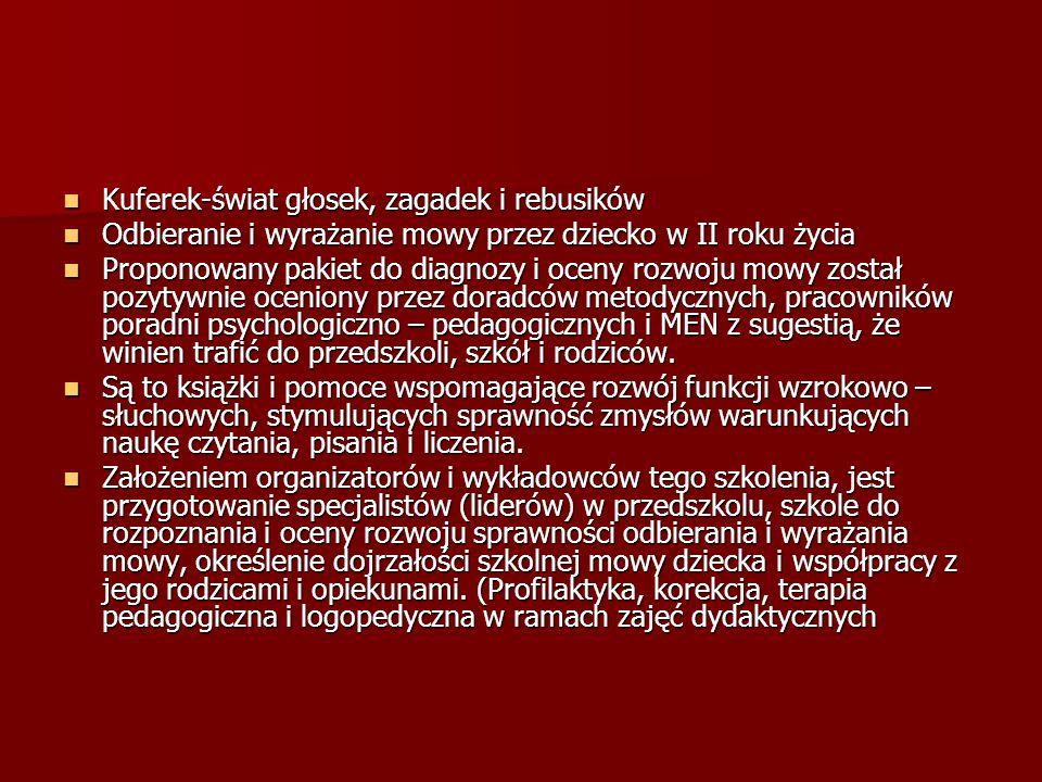 TERAPIA-korekcja W ramach zajęć dydaktycznych wspólne (grupowe) W ramach zajęć dydaktycznych wspólne (grupowe) - zabawy (ćwiczenia) oddechowe - zabawy (ćwiczenia) artykulacyjne – lizak Wspólne zabawy w wywołanie i utrwalanie głoski np.