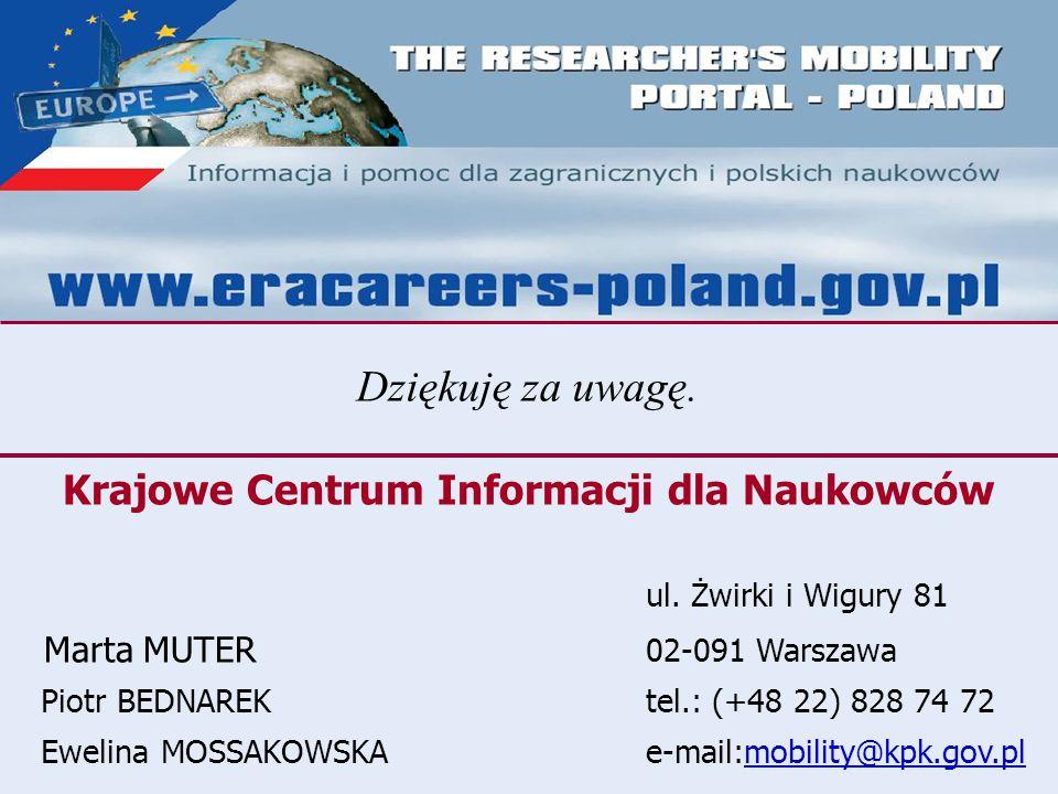 Krajowe Centrum Informacji dla Naukowców ul.