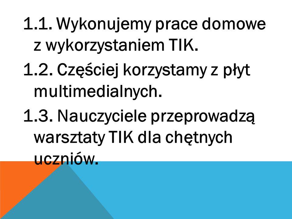 1.1. Wykonujemy prace domowe z wykorzystaniem TIK.