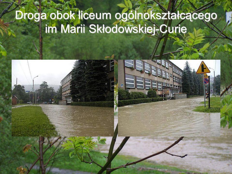 Droga obok liceum ogólnokształcącego im Marii Skłodowskiej-Curie