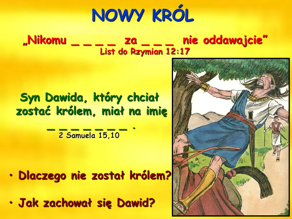 """Dawid i Mefiboszet Saul _ _ _ _ _ _ _ _ _ _ _ _ _ _ _ """"Dzieci, miłujmy nie słowem ani językiem, """"Dzieci, miłujmy nie słowem ani językiem, lecz czynem"""
