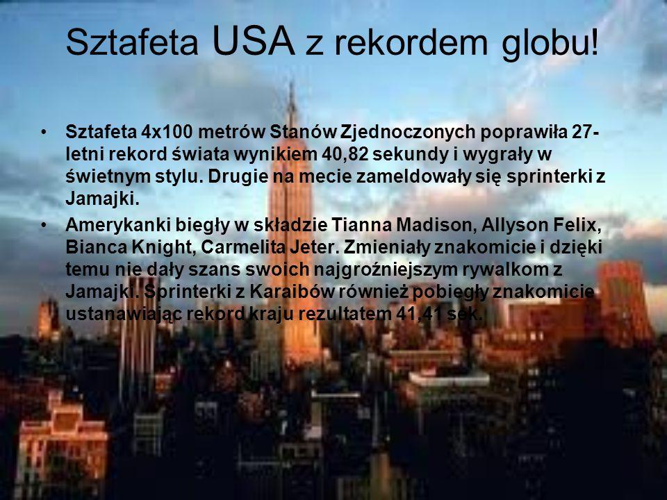 Sztafeta USA z rekordem globu.
