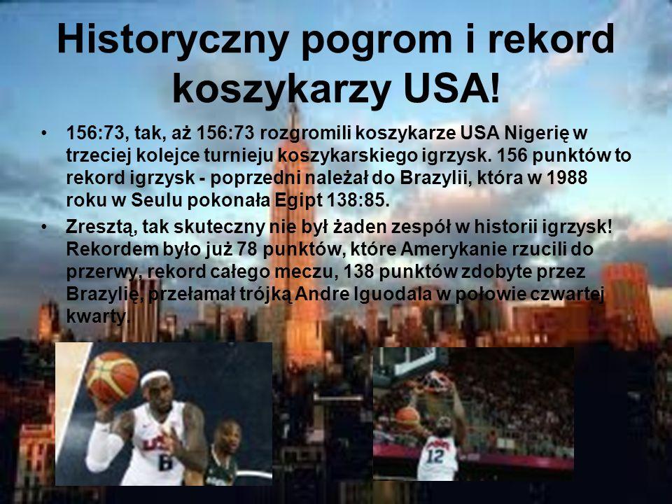 Historyczny pogrom i rekord koszykarzy USA.