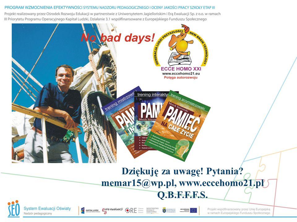 Dziękuję za uwagę! Pytania? memar15@wp.pl, www.eccehomo21.pl Q.B.F.F.F.S.