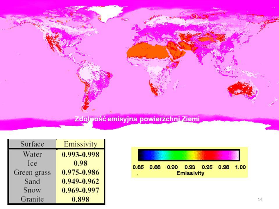14 Zdolność emisyjna powierzchni Ziemi
