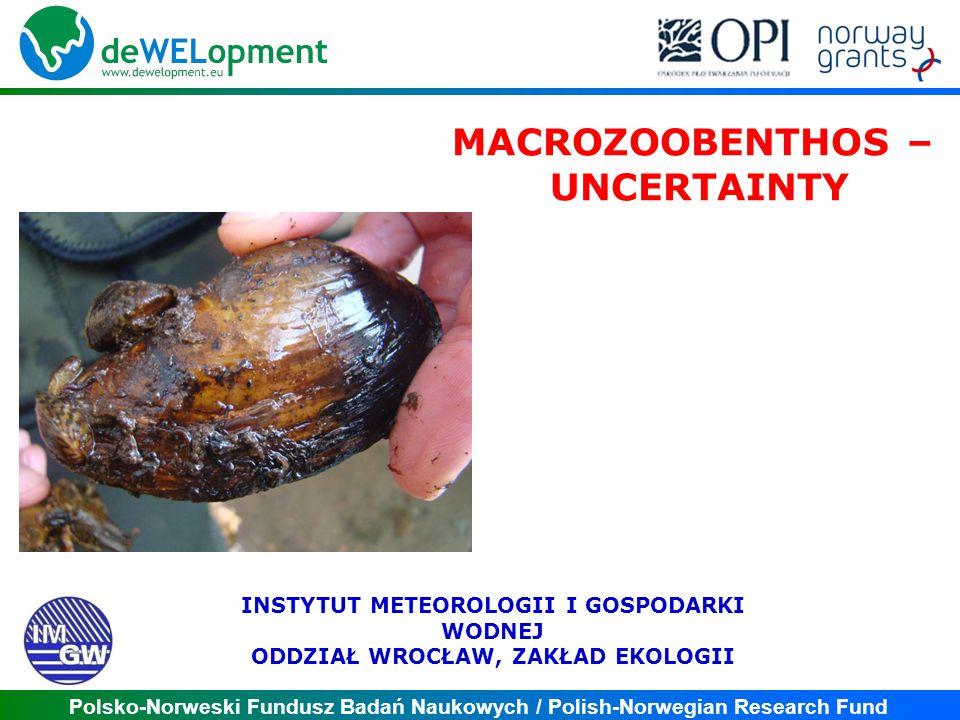 Polsko-Norweski Fundusz Badań Naukowych / Polish-Norwegian Research Fund MACROZOOBENTHOS – UNCERTAINTY INSTYTUT METEOROLOGII I GOSPODARKI WODNEJ ODDZI