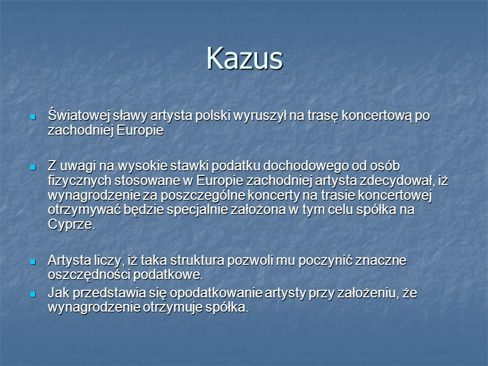 Kazus Światowej sławy artysta polski wyruszył na trasę koncertową po zachodniej Europie Światowej sławy artysta polski wyruszył na trasę koncertową po