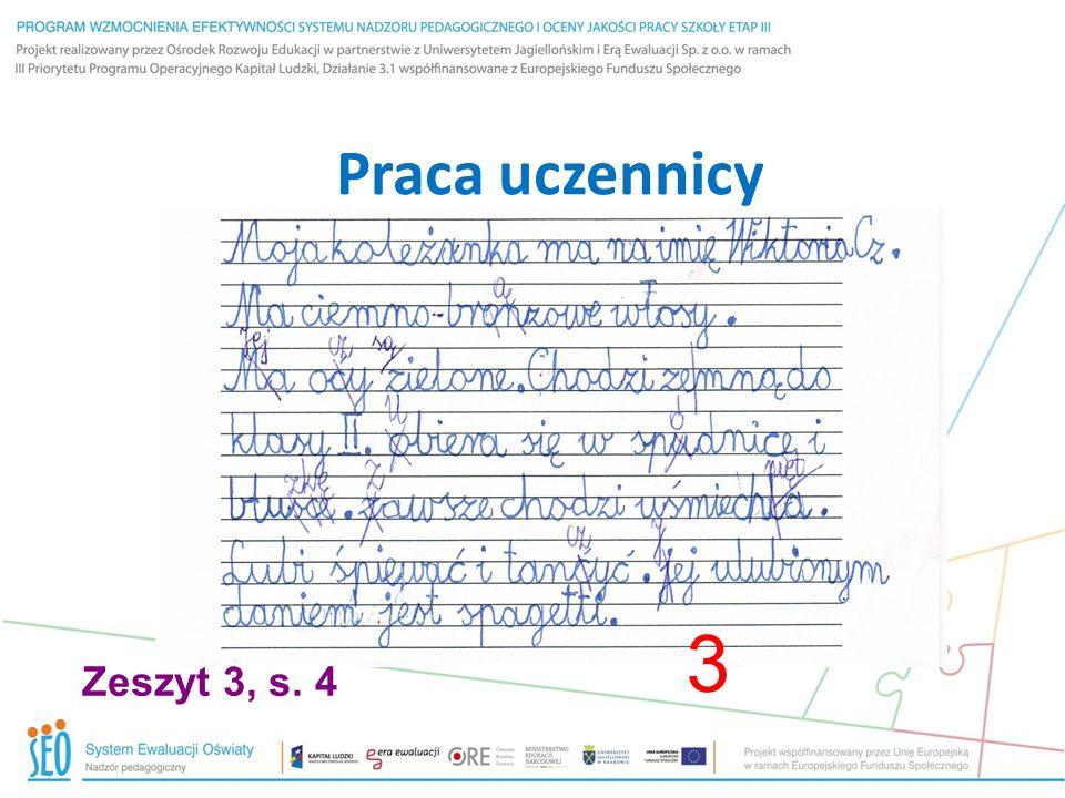 Praca uczennicy 3 Zeszyt 3, s. 4