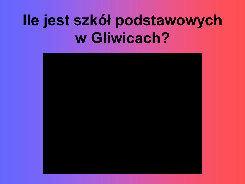 Ile jest szkół podstawowych w Gliwicach?