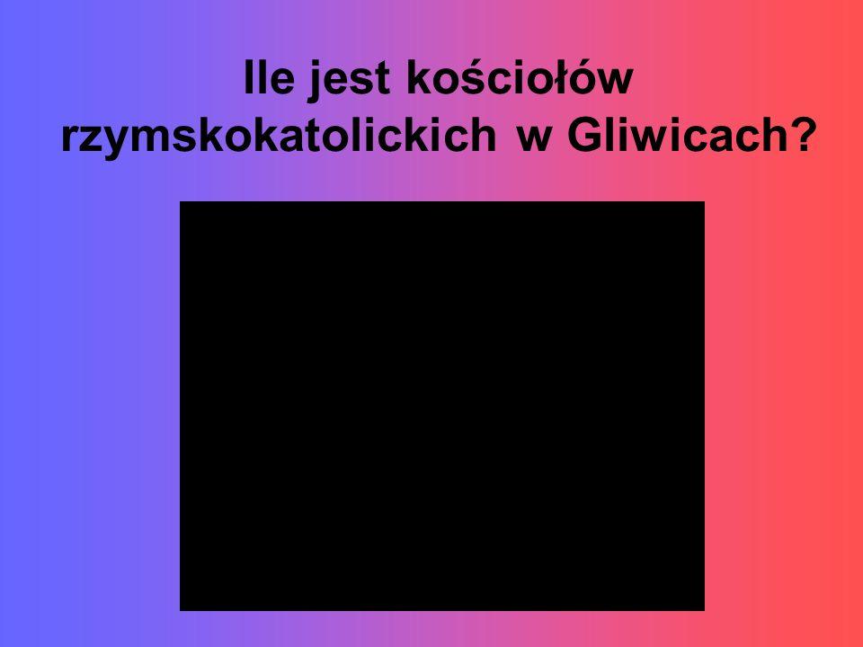 Ile jest kościołów rzymskokatolickich w Gliwicach?