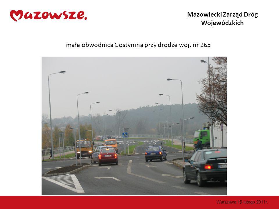 Mazowiecki Zarząd Dróg Wojewódzkich mała obwodnica Gostynina przy drodze woj.