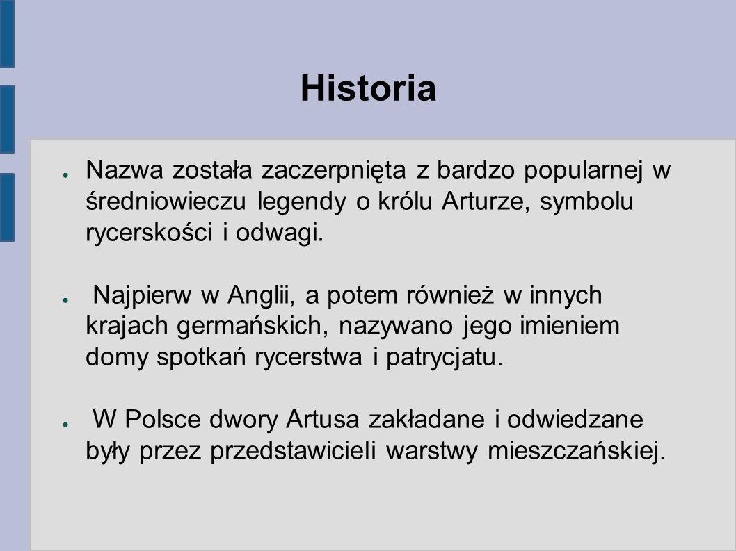 Historia ● Na terenach Rzeczypospolitej powstało kilka dworów, lecz gdański był z nich zdecydowanie najsławniejszy.