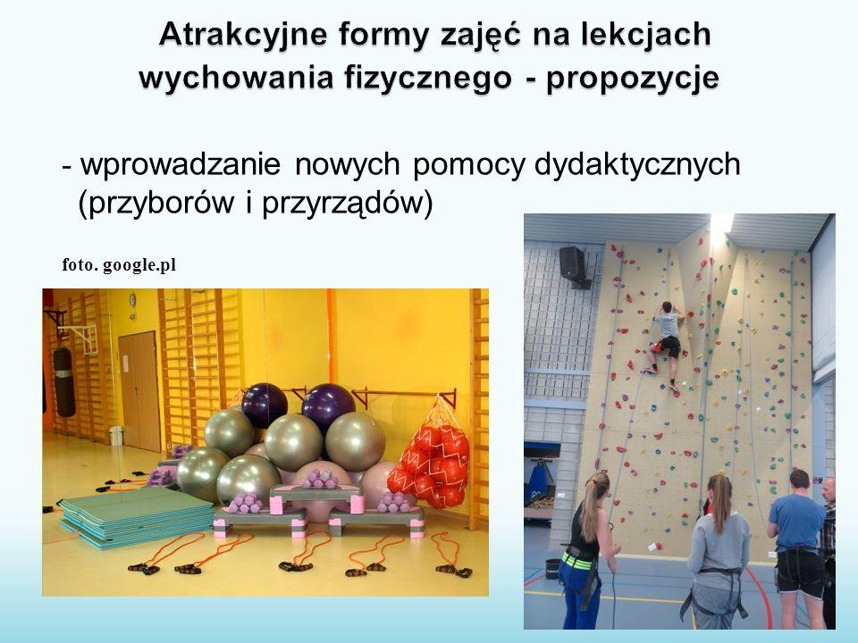 - wprowadzanie nowych pomocy dydaktycznych (przyborów i przyrządów) foto. google.pl